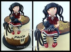 today is my birthday and this is the cake that I made inspired Gorjuss style