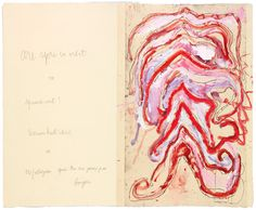 Louise Bourgeois — Are You In Orbit?, 2008 Etching, watercolor, gouache, ink and pencil on paper
