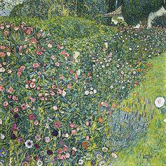 Gustav Klimt (Austrian, 1862-1918). Italian Garden Landscape. 1913. Oil on canvas.