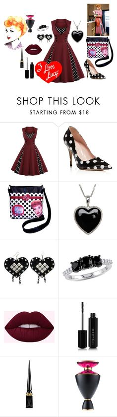 """LUCY"" by wendy-collins-1 ❤ liked on Polyvore featuring Kate Spade, I Love Lucy Signature Product, Lord & Taylor, Ice, Marc Jacobs, Christian Louboutin and Bulgari"