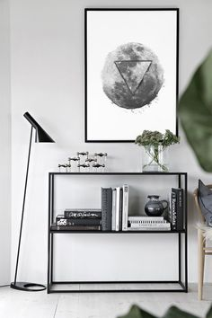 Glitch Effect Moon Wall Art Décor, Geometric Simple Art, Geometric Home Decor, Monochrome Printable Print, Above Bed Poster