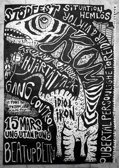 K.O.M-FEST!!!! #posters #poster #music #charity #illustration #art #event