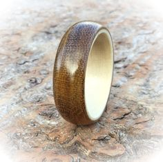 Wooden Engagement Ring from Holly and Laburnum by TheWoodHutGifts
