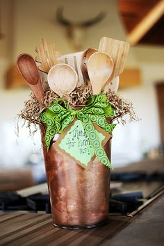 (✿◠‿◠)Utensil Bouquet: Good gift idea for a housewarming party or for your favorite foodie friend!ヅ