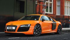 Audi R8, only instance where I love orange and black. Ultimate dream car(in white please)