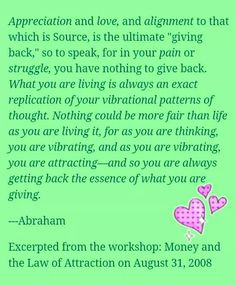 Abraham Hicks, appreciation
