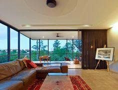 Paddington Residence // House Design // Living Room Design // Interior Design // Residential Architecture // Brisbane, Queensland, Australia // Designed by Ellivo Architects // Photography by Scott Burrows // www.ellivo.com
