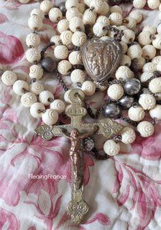 FleaingFrance.....RARE Priest's Rosary - Souvenir Lourdes