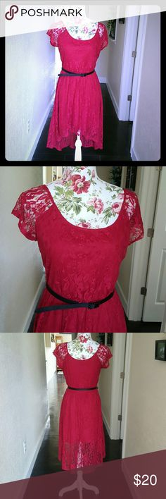 NWOT As U Wish lace dress size medium Beautiful high low lacy dress by As U Wish. New witbout tag. As U Wish Dresses