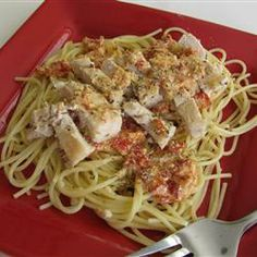 """Chicken Milano   """"A delicious pasta and chicken dish with garlic, sun-dried tomatoes and fresh basil."""""""