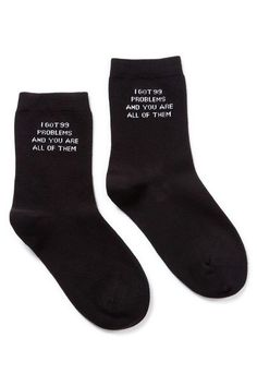 Ur The Problem Ankle Socks by KILLSTAR. Available online now!