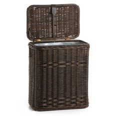 With its discreet styling, our Wicker Kitchen Waste Basket can be placed in any room of your home. Remove the sturdy metal liner and you have extra storage! Hide Trash Cans, Trash Bag, Wicker Laundry Hamper, Laundry Basket, Laundry Room, Kitchen Waste, Home Economics, Garbage Can, Beautiful Kitchens