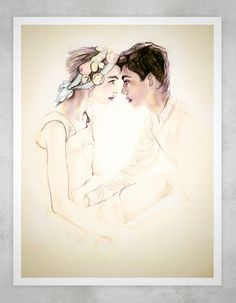 You & Me Forevermore 8X11  Fashion Illustration Print. (Possibly my favorite)