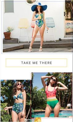 Fresh new swim prints have arrived, in classic retro cuts that are sure to channel your inner pinup.