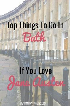 Top Things To Do In Bath If You Love Jane Austen Any lover of Jane Austen can't go past a visit to Bath, England. The Jane Austen Centre, Pump Room, and the Royal Crescent are all top sites to see. Oh The Places You'll Go, Places To Travel, Time Travel, Bristol, Leeds, Liverpool, Literary Travel, Airplane Travel, England And Scotland