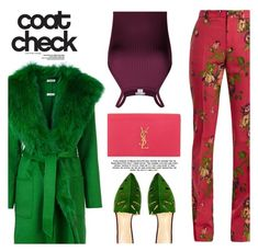 """""""Statement Coats - Top Fashion Set 1/13/2018"""" by misshonee ❤ liked on Polyvore featuring P.A.R.O.S.H., Gucci, Yves Saint Laurent, Charlotte Olympia and statementcoats"""