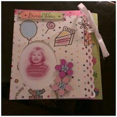 Bursdagskort med bilde av bursdagsbarnet