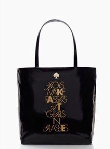 KATE-SPADE-Boys-Make-Passes-At-Girls-In-Glasses-Bon-Shopper-Black-Tote-Bag