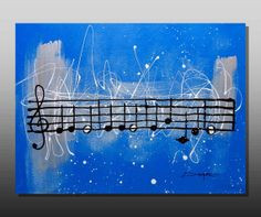 Acrylic Painting Music  ORIGINAL painting on by AniksPaintings, $450.00