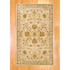 Indo Hand-tufted Red/ Green Floral Wool Rug (3'3 x 5'3) (India)  90.