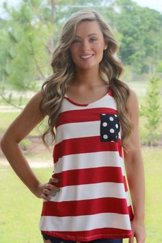 Our bestselling Endless Summer Stripe tank is lightweight and perfect to show your American Pride! The super soft material will help you stay comfortable all day long - even on the warmest of summer d