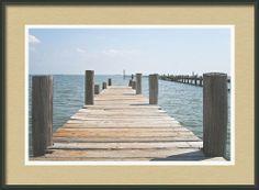 Framed Photo Shoreacres Pier, La Porte, Texas, Houston Ship Channel, Trinity Bay