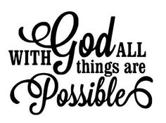 With God all things are possible wall decal by arkansasmade, $35.00 #wallart #decal #God