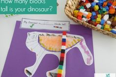 This measurement lesson was inspired by the story The Really Really Big Dinosaur by Richard Byrne. It really got my Pre-primary (4-5 year olds) class engaged and motivated about measuring length! #MeasurementLength