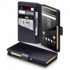 Läderplånbok till Xperia Z5. Hitta fler fodral via: http://www.phonelife.se/mobilfodral