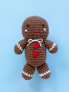 This gingerbread cookie amigurumi makes the perfect Christmas toy. Give it as a gift with a box of cookies, or decorate your kitchen for the holiday season. (Lion Brand Yarn)