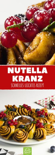 Was Schöneres mit Nutella siehst du dieses Jahr nicht mehr. What's better with Nutella you will not see this year. Oven Recipes, Cooking Recipes, Western Food, Party Finger Foods, Best Food Ever, Vegan Dishes, Diy Food, Sweet Recipes, Good Food