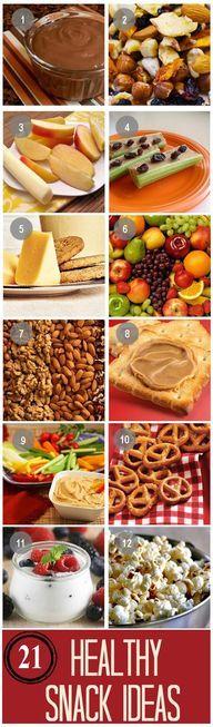 21 Healthy Snack Ide