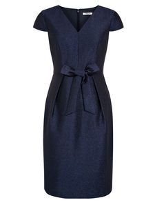 NAVY CRINKLE DRESS