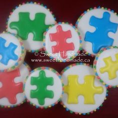 Throwback Thursday on National Autism Awareness Day.  #autism #autismawareness #autismawarenessday2015 #decoratedcookies #bradfordontariocookies #cookiedonation #sweethandmadecookies