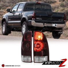 2005 2017 Toyota Tacoma Led Oe Style Smoke Tinted Replacement Tail Lights Lh Rh