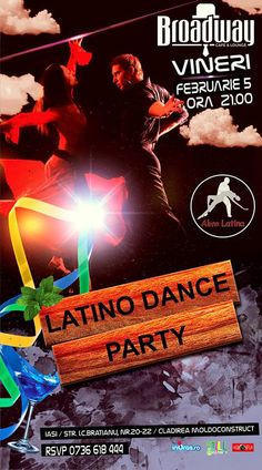 Latino Dance Party @Broadway Cafe&Lounge   IasiFun - site-ul tau de timp liber! Club Flyers, Event Flyers, Latino Dance, Thursday Club, Sink Or Swim, Dubstep, Latina, Broadway, Lounge