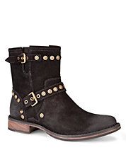 UGG AUSTRALIA Studded Suede Ankle Boots #boots #fur #warm #style