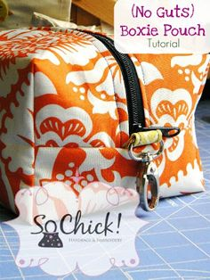 Free Boxie Pouch Tutorial & Pattern  (really cool!-make your own matching cosmetic and toiletry bags for travel, pencil pouches, etc.!)