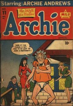 Archie 11, Archie Comic Publications, Inc. https://www.pinterest.com/citygirlpideas/archie-comics/