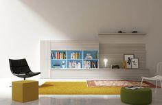 Ambientes para leer, pensar, inspirarse... Con Mobelrías puedes crear tu salón ideal ;-)   #diseño #hogar #casa #decoración #salón #Galicia #fashion #cool Modern Wall Units, Living Room Inspiration, Corner Desk, Bookcase, Shelves, Furniture, Home Decor, Cool, Places