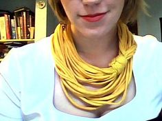 Beauty for the Geek: shredded old shirts into necklaces