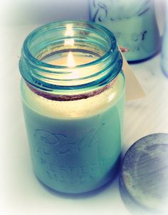 Glow Candles...handcrafted fragranced soy wax candles made in vintage Ball Mason jars.