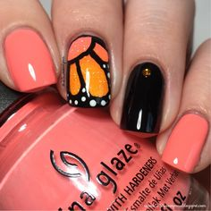 25 Sweetpeas: Butterfly Nail Art + Tutorial