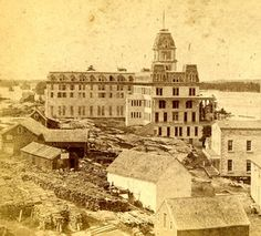 A C McIntyre View Card Back View of the Thousand Island House Alexandria Bay, NY. 1,000 Islands, St Lawrence River, NY