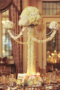 Tall Custom Built Centerpiece, currently available throughout NJ, NYC & CT from Couture Event Rentals.
