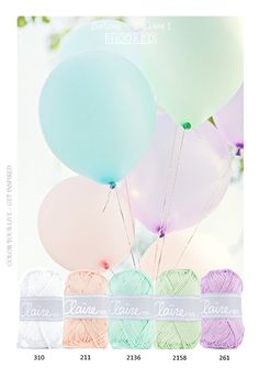 ❤ =^..^= ❤ Balloons | Kleurinspiratie | MrsHooked Yarn Color Combinations, Colour Schemes, Color Style, Yarn Inspiration, Ideias Diy, Colour Pallette, Color Harmony, Colour Board, Color Of Life