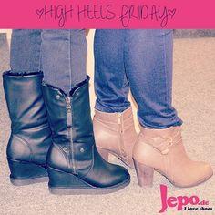 Heute ist wieder #highheelsfriday! Beide Stiefel(etten) sind von #jepo! #bts #tgif #iloveshoes