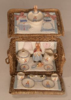 Beatrix Potter Basket by Dominique Levy - $995.00 : Swan House Miniatures, Artisan Miniatures for Dollhouses and Roomboxes