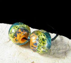 Handmade Lampwork Beads  Earring Pairs  Organic Texas 2