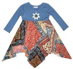 "Mimi & Maggie ""Patchwork Scarves"" Dress"